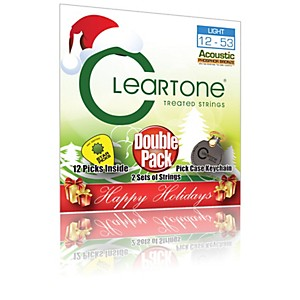 Cleartone-Buy-1--Get-1-Free---Light-Acoustic-Guitar-Strings---Holiday-Pack-Standard