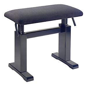 Musician-s-Gear-Hydraulic-Lift-Piano-Bench-Black-Velvet-Top-Black-Matt-Finish