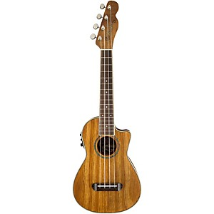 Fender-Mino-Aka-Koa-Cutaway-Electric-Ukulele-Natural