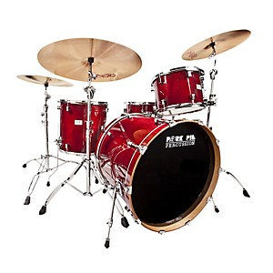 Pork-Pie-Little-Squealer-4-Piece-Shell-Pack-with-24--Bass-Drum-Black-Cherry-Lacquer
