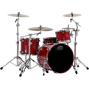 DW-Performance-Series-4-Piece-Shell-Pack-Candy-Apple-Lacquer-with-Chrome-Hardware
