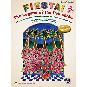 Alfred-Fiesta--The-Legend-of-the-Poinsettia-Book---CD-Standard