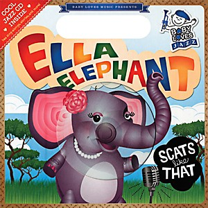 Penguin-Books-Baby-Loves-Jazz--Ella-Elephant-Scats-Like-That-Book---CD-Standard