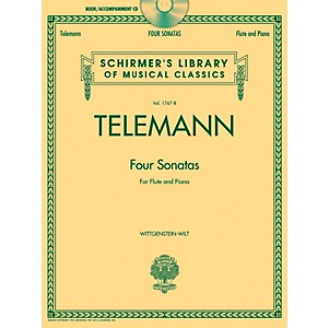 G--Schirmer-Georg-Phillip-Telemann---Four-Sonatas-For-Flute-And-Piano-Book-CD-Standard