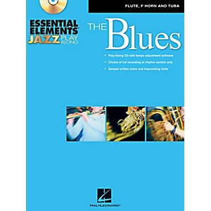 Hal-Leonard-Essential-Elements-Jazz-Play-Along---The-Blues--Flute--French-Horn--and-Tuba--Book-CD-Standard