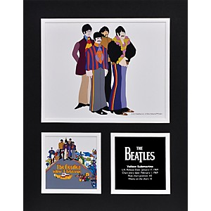 Mounted-Memories-Beatles--Yellow-Submarine--11x14-matted-photo-Standard