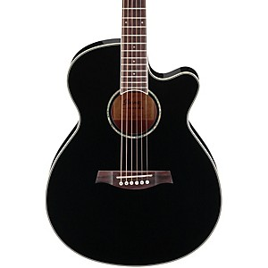 Ibanez-AEG10II-Cutaway-Acoustic-Electric-Guitar-Black