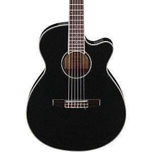 Ibanez-AEG10NII-Nylon-String-Cutaway-Acoustic-Electric-Guitar-Black