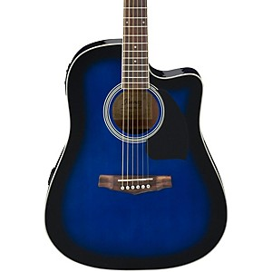 Ibanez-Performance-Series-PF15-Cutaway-Dreadnought-Acoustic-Electric-Guitar-Transparent-Blue-Burst