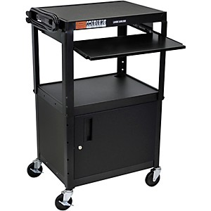 H--Wilson-Plastic-Cart-with-Steel-Cabinet-and-Pullout-Keyboard-Tray-Standard