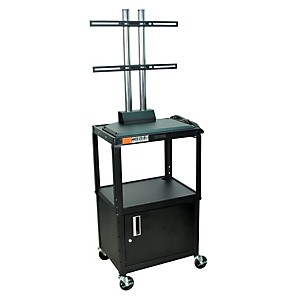 H--Wilson-Adjustable-Height-LCD-Cart-with-Locking-Cabinet-Standard
