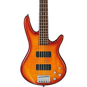 Ibanez-GSR205FM-5-String-Electric-Bass-Amber-Burst