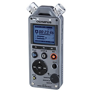 Olympus-LS-12-Linear-PCM-Recorder-Gunmetal-Grey