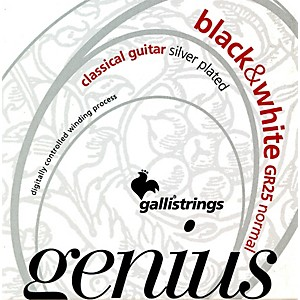 Galli-Strings-GR25-GENIUS-Black-and-White-Coated-Silverplated-Normal-Tension-Classical-Acoustic-Guitar-Strings-Standard