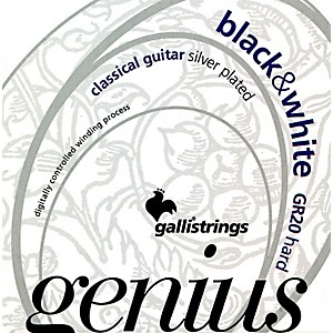 Galli-Strings-GR20-GENIUS-Black-And-White-Coated-Silverplated-Hard-Tension-Classical-Acoustic-Guitar-Strings-Standard
