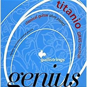 Galli-Strings-GR45-Genius-Titanio--Nylon-Coated-Silverplated-Normal-Tension-Classical-Acoustic-Guitar-Strings-Standard