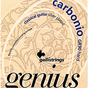 Galli-Strings-GR90-GENIUS-CARBONIO-Nylon-Coated-Silverplated-Hard-Tension-Classical-Acoustic-Guitar-Strings-Standard