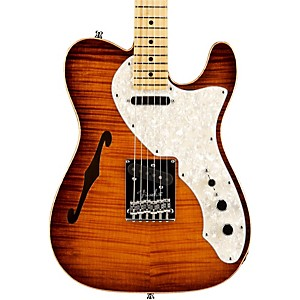 Fender-Select-Thinline-Telecaster-Electric-Guitar-Violin-Brown-Maple-Fingerboard