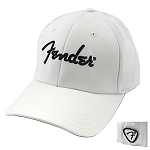 Fender-White-Script-Logo-Stretch-Cap-White-L-XL