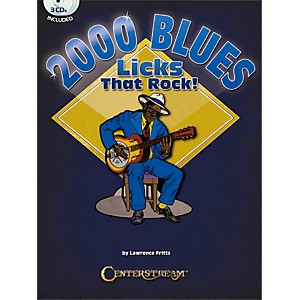Centerstream-Publishing-2000-Blues-Licks-That-Rock-Book-3CDs-Standard