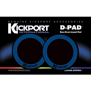 Kickport-D-Pad-Bass-Drum-Impact-Pad-2-Pack-Black