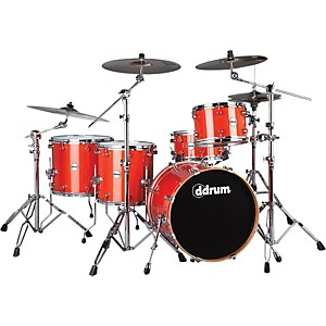 ddrum-Reflex-Pocket-5-Piece-Shell-Pack-Orange-Sparkle-Nickel-Hardware