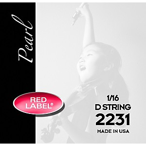 Super-Sensitive-Red-Label-Pearl-Nylon-Core-Violin-D-String-1-16-Size