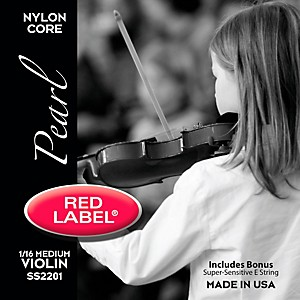 Super-Sensitive-Red-Label-Pearl-Nylon-Core-Violin-String-Set-1-16-Size