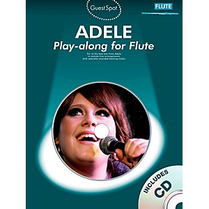 Music-Sales-Adele-Play-along-for-Flute--Book-CD--Standard