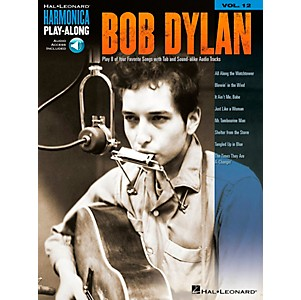 Music-Sales-Bob-Dylan---Harmonica-Play-Along-Volume-12-Book-CD-Standard