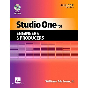 Hal-Leonard-Studio-One-For-Engineers---Producers--Quick-Pro-Guides-Series-Book-DVD-ROM-Standard