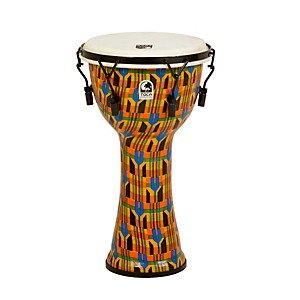 Toca-Freestyle-Djembe---Kente-Cloth-Mechanically-Tuned-10-Inch