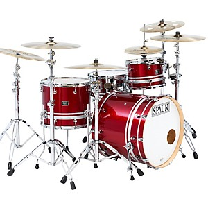 Spaun-Custom-Shop-3-Piece-Maple-Shell-Pack-Rich-Red-Sparkle-with-Silver-Stripes