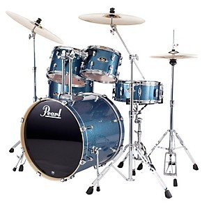 Pearl-Export-Fusion-5-Piece-Drum-Set-with-Hardware-Aqua-Blue-Glitter