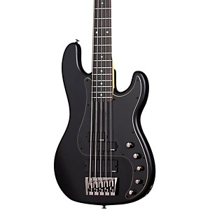 Schecter-Guitar-Research-Diamond-P-Custom-Active-5-Electric-Bass-Guitar-Satin-Black