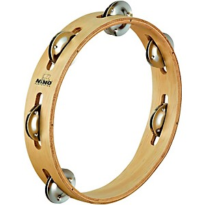 Nino-Wood-Tambourine-1-Row-Natural-8-Inch