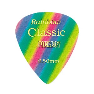 Pick-Boy-Vintage-Pick-Celluloid-Rainbow--10-pack---50MM