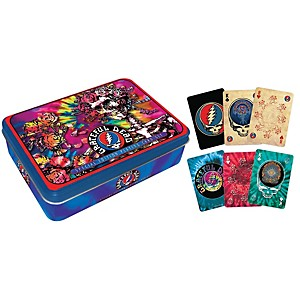Hal-Leonard-Grateful-Dead-Playing-Cards-2-Deck-Set-Gift-Tin-Standard