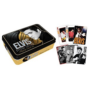 Hal-Leonard-Elvis-Presley-Playing-Cards-2-Deck-Set-Gift-Tin-Standard