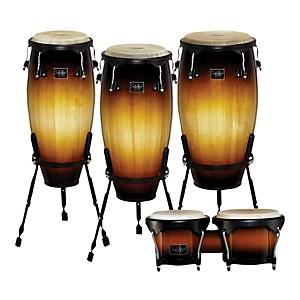 Schalloch-Linea-100-Series-3-Piece-Conga-Set-with-Bongos-Vintage-Sunburst