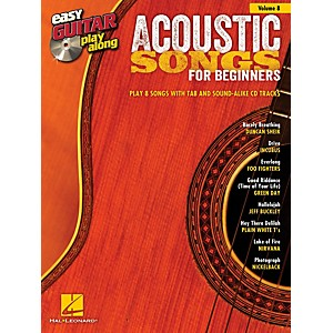 Hal-Leonard-Acoustic-Songs-For-Beginners-Easy-Guitar-Play-Along-Volume-8--Book-CD--Standard