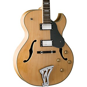 Washburn-J3-Jazz-Florentine-Cutaway-Electric-Guitar-Natural