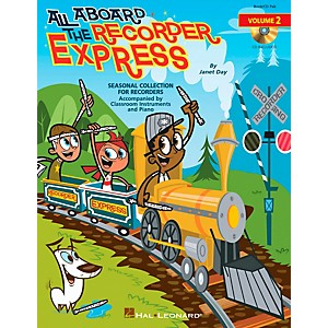 Hal-Leonard-All-Aboard-The-Recorder-Express---Seasonal-Collection-for-Recorders-Volume-2-Book-CD-Standard