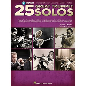 Hal-Leonard-25-Great-Trumpet-Solos-Book-CD-includes-Transcriptions---Lessons---Bios---Photos-Standard