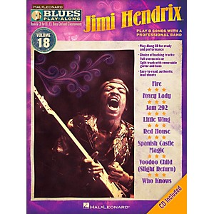 Hal-Leonard-Jimi-Hendrix---Blues-Play-Along-Volume-18-Book-CD-Standard
