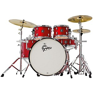 Gretsch-Drums-Energy-5-Piece-Drum-Set-with-Hardware-and-Sabian-SBR-Cymbals---Red