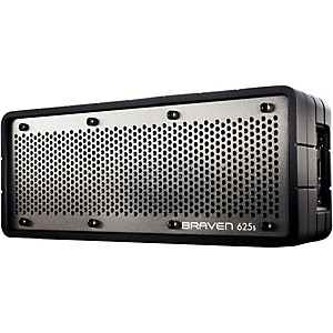 Braven-625S-Portable-Wireless-Speaker-Black-Silicone-Housing-w--Gray-Grill