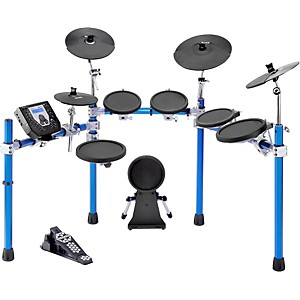 SIMMONS-SD1500-Electronic-Drum-Set-with-Blue-Metallic-Rack-Standard