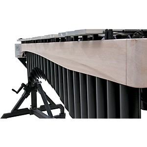 Adams-Alpha-Series-3-0-Octave-Vibraphone--Silver-Bars-Motor-Traveler-Frame-White-Wash-Rails-Black-Resonators