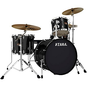 TAMA-Imperialstar-4-Piece-Drum-Kit-with-Cymbals-Black